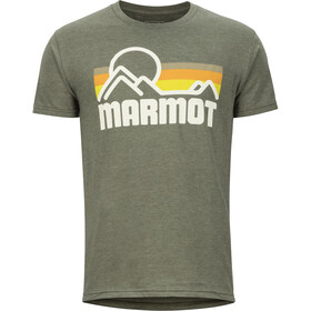 Marmot Coastal Camiseta Manga Corta Hombre, new olive heather